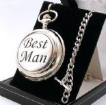 Pocket Watch, BEST MAN Skeleton Mechanical, PERSONALISED ref BMPWS
